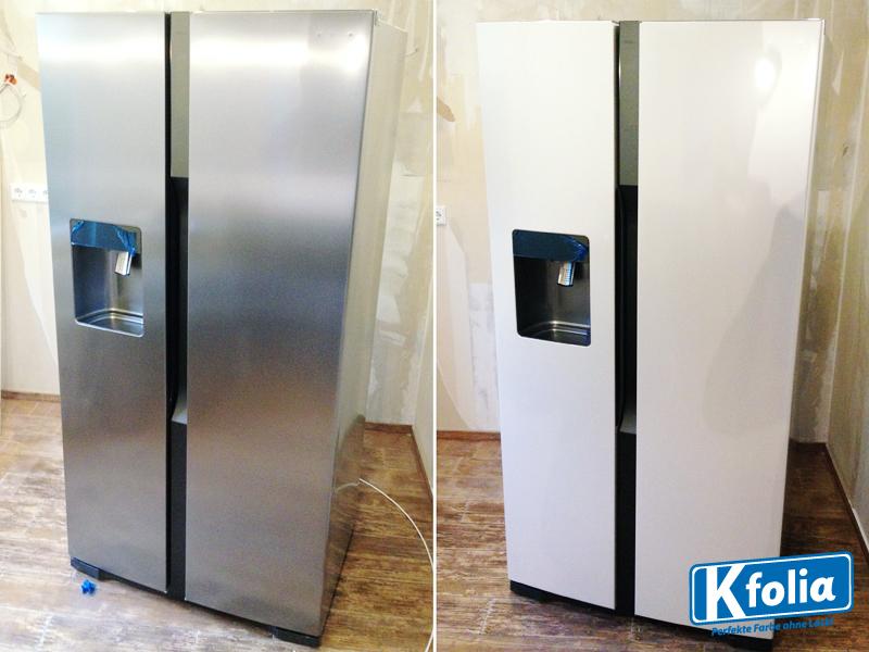 Kühlschrank Folie : Kühlschrank foliert kfolia perfekte farbe ohne lack zum fespreis!